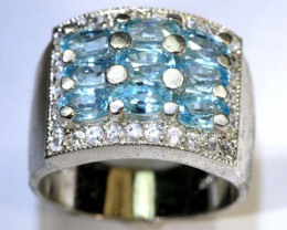 35CTS TOPAZ AND QUARTZ SILVER RING SG-2508