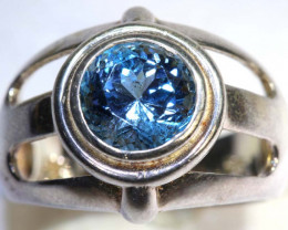 27.5CTS TOPAZ SILVER RING SG-2532