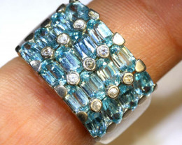 32CTS TOPAZ AND QUARTZ SILVER RING SG-2534