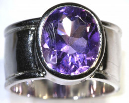 46 CTS AMETHYST SILVER RING SG-2545