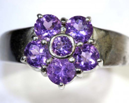 28 CTS AMETHYST SILVER RING SG-2547