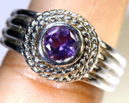 35.5CTS AMETHYST SILVER RING SG-2549