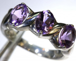 20.8CTS AMETHYST SILVER RING SG-2550