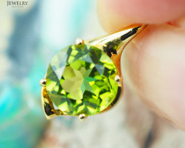 14K Yellow Gold Peridot Pendant - 99 - D P11435 950