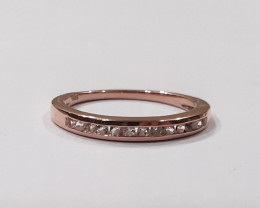 Diamond 14k rose gold ring #9519