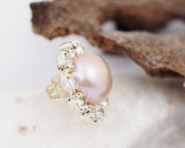 Fresh Water Champagne  Pearl earring  AM 1148