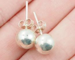 8x8 mm Sterling Silver earrings   AM 1153