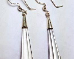 Loupe-clean Beautiful faceted Quartz Earring Pair  35Cts- Pakistan