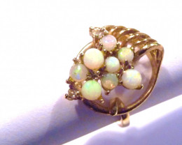 Stunning Australian Opal and Gold Gilt Ring  Size O or 7.5 (2781)