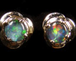 Modern  Cute   Oval  Opal Triplet Earring OPJ 2023