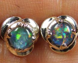 Modern  Cute   Oval  Opal Triplet Earring  NA 518
