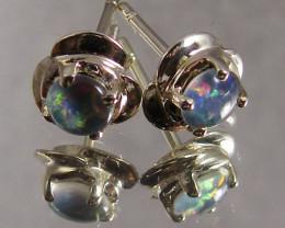 Modern  Cute   Oval  Opal Triplet Earring OPJ 2024