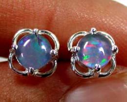 Modern  Cute   Oval  Opal Triplet Earring OPJ 2025