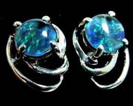 Modern  Cute   Oval  Opal Triplet Earring OPJ 2026
