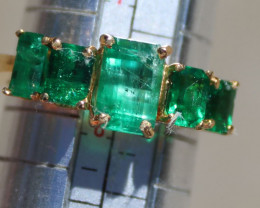 Emerald 3.55ct Solid 22K Yellow Gold Ring,Natural,Certified,Appraised,Brand