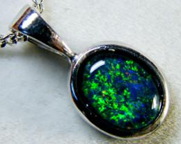 Australian  Triplet Opal in 18k White Gold EN 1283