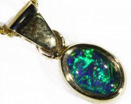 Australian Opal  Triplet in 18k WYellowGold Sb 765