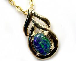 Australian  Triplet Opal in 9k  Gold  SCO 921