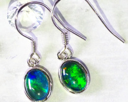Triplet Silver Opal Earrings