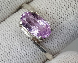 12.60 Carats Natural Pink Kunzite Ring