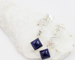 Swing lapis Lazuli  silver Earrings,  ,AM 1165