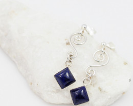 Swing lapis Lazuli  silver Earrings,  ,AM 1167