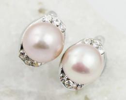 Champagne  fresh water Pearl ,cute  clip on  Earrings,  ,AM 1180