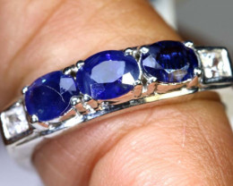 14.35-CTS SAPPHIRE RING BLUE AND WHITE SG-2627