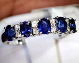 10.95 CTS SAPPHIRE RING BLUE AND WHITE SG-2626