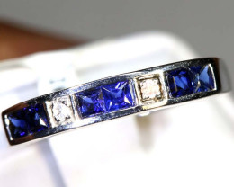 10.7 CTS SAPPHIRE RING BLUE AND WHITE SG-2625