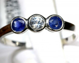 5.8 CTS SAPPHIRE RING BLUE AND WHITE SG-2624