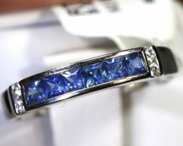 9.65 CTS SAPPHIRE RING BLUE AND WHITE SG-2629