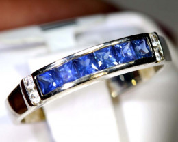 9.75 CTS SAPPHIRE RING BLUE AND WHITE SG-2630