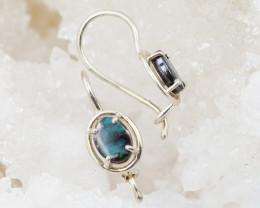 NICE  Australian Boulder opal earrings  OPJ 2085