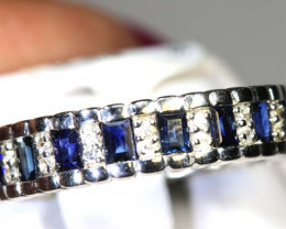 17.60 CTS SAPPHIRE RING BLUE AND WHITE SG-2634