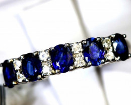 10.70  CTS SAPPHIRE RING BLUE AND WHITE SG-2637