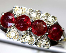 10.25 CTS RUBY SILVER RING SG-2641