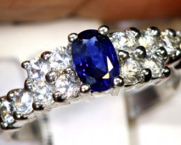 11.70 CTS SAPPHIRE RING BLUE AND WHITE SG-2643