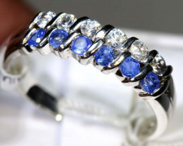 10.80 CTS SAPPHIRE RING BLUE AND WHITE SG-2646