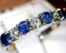 12.55 CTS SAPPHIRE RING BLUE AND WHITE SG-2648