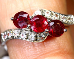 9.3 CTS RUBY SILVER RING SG-2651