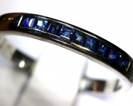12.8 CTS BLUE SAPPHIRE SILVER RING SG-2652