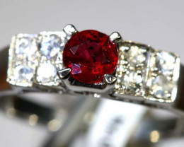 10.7-CTS RUBY SILVER RING SG-2653