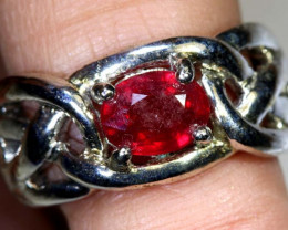 49.25 CTS RUBY SILVER RING SG-2655