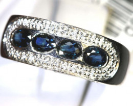 12.75-CTS SAPPHIRE RING BLUE AND WHITE SG-2660