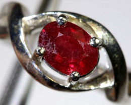 29-CTS RUBY  SILVER RING SG-2662