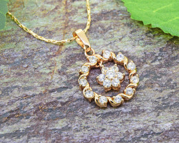 Rose Gold & CZ Gold-Filled Pendant