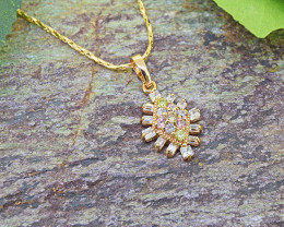 Rose Gold & Multicolour CZ Gold-filled Pendant