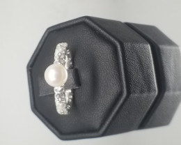 Natural Water Pearl Silver Ring