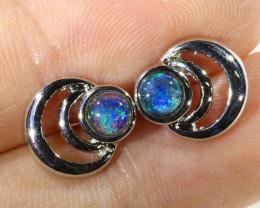 Gem Opal Triplet set in Earring CF1756